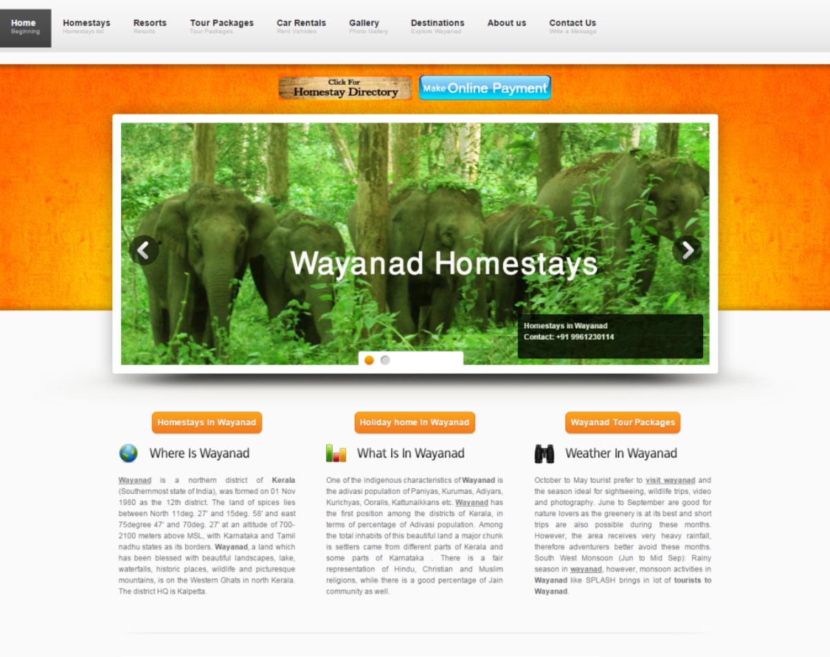 Homestays at Wayanad SEO  wayanadweb