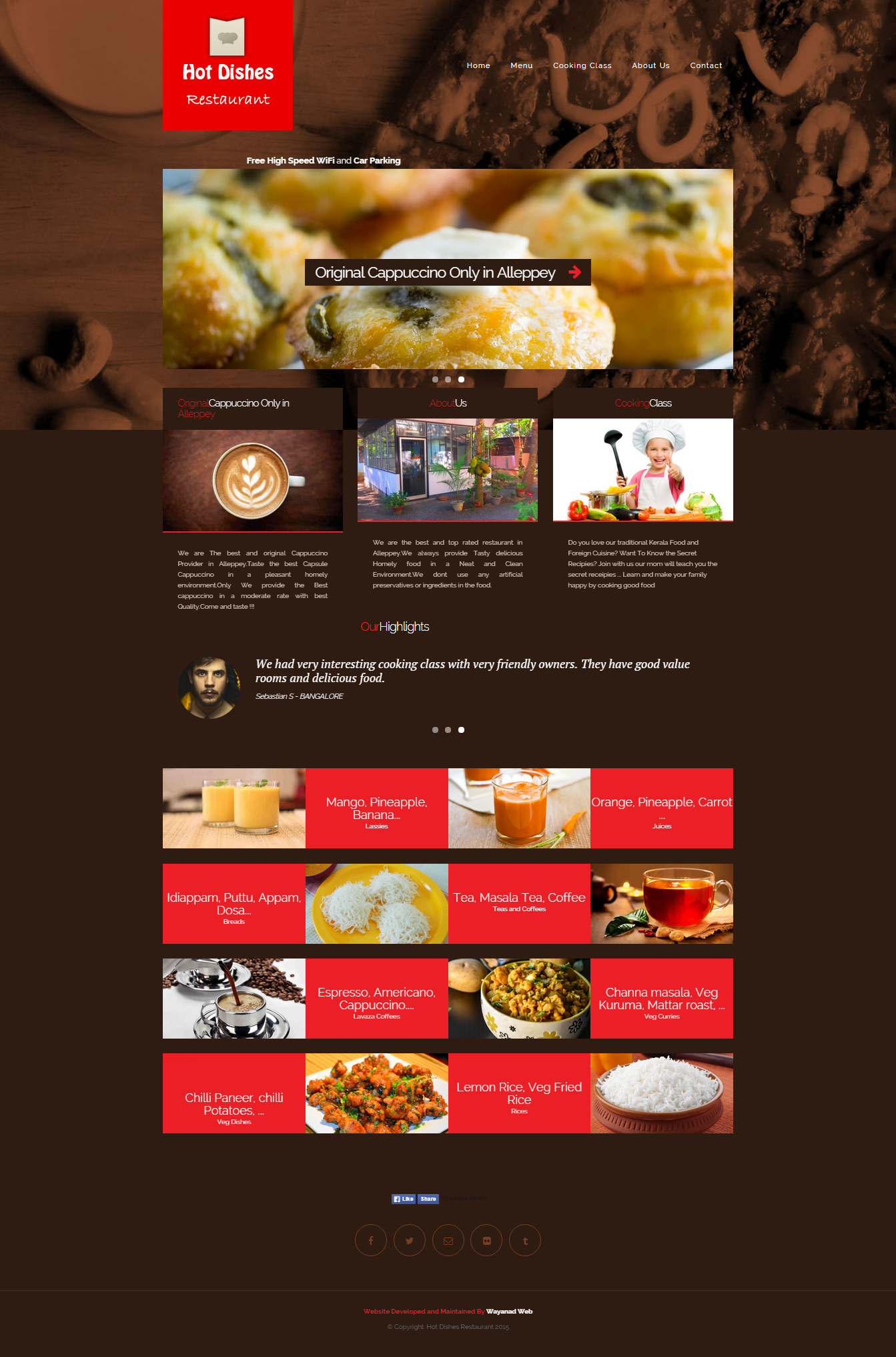 Hotdishes Website Design wayanadweb