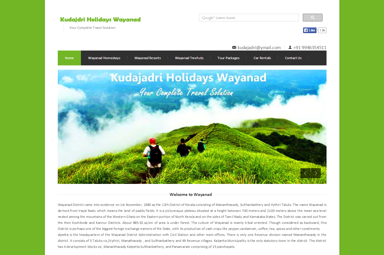 Kudajadri Website Design wayanadweb